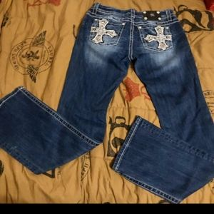 Miss Me Jeans Size 31/34 boot cut mid